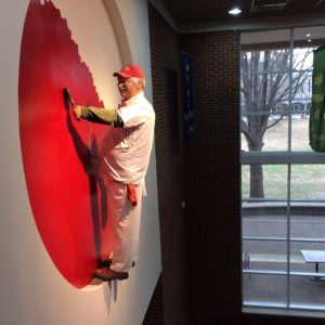 "This ""painter"" in the Austin Peay Student Union, where the professional development panels were held, caused many a double-take."
